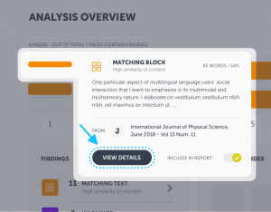 View details of your findings in our new interface